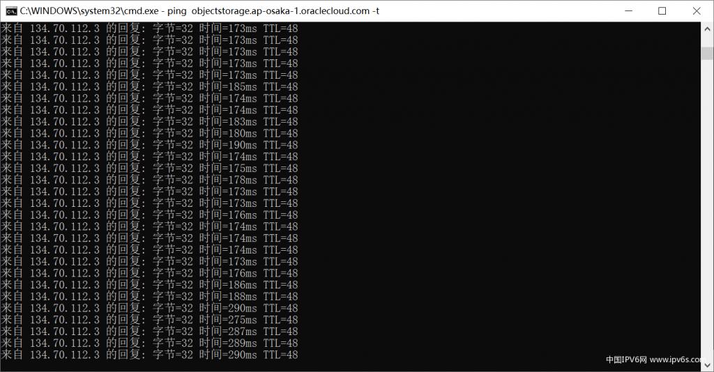 甲骨文云(Oracle Cloud)免费云账户全球22区中国ping值测试参考